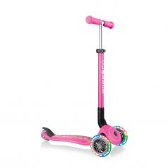 globber - junior foldable fantasy light - monopattino pieghevole  con luci - fiori rosa