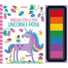 unicorni e fatine. disegno con le dita. ediz. a colori. ediz. a spirale. con 7 tamponi inchiostrati