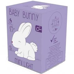 luce notturna coniglio con coda pon pon