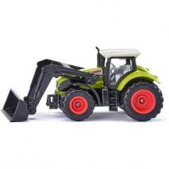trattore claas axion con benna - modellino die-cast