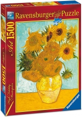 van gogh: vaso con girasoli - puzzle 1500 pezzi