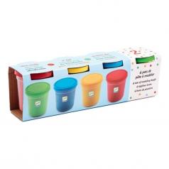 pasta modellabile 4 vasetti colorati