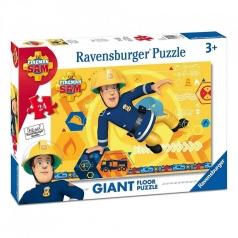tutti amano sam il pompiere - puzzle 24 pezzi pavimento