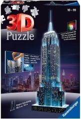 empire state building con led - puzzle 3d 216 pezzi