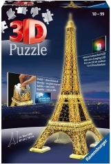 tour eiffel con led - puzzle 3d 216 pezzi