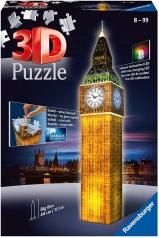 big ben con led - puzzle 3d 216 pezzi