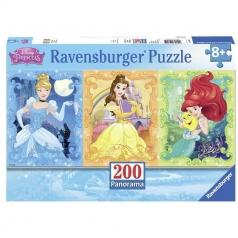 princess panorama - puzzle 200 pezzi xxl