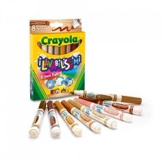 8 colori fibra lavabilissimi punta maxi multiculturali