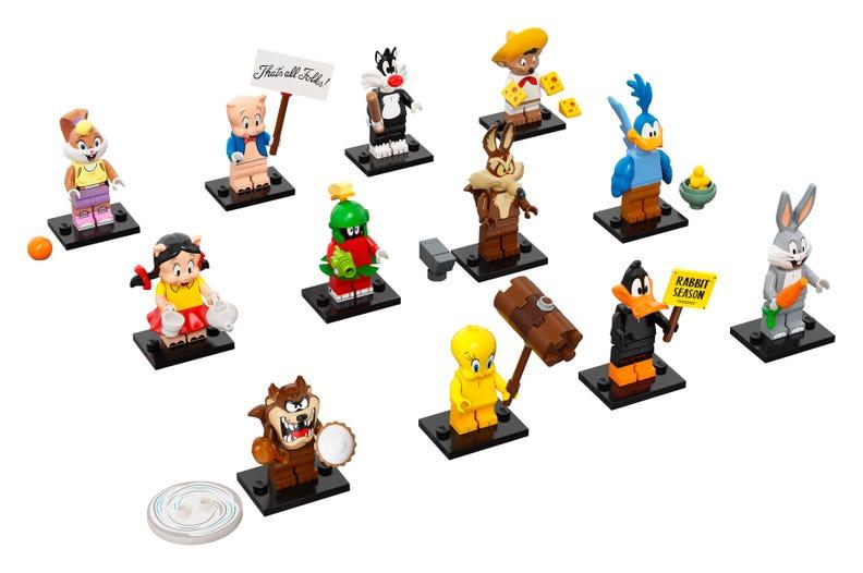 71030 - looney tunes - serie completa 12 minifigures lego